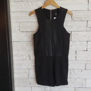 Forever 21 Faux Leather Romper Size M NEW